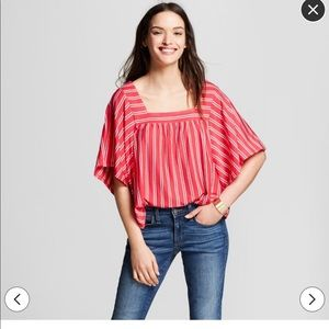 Target Universal Thread Red & White Stripe Top